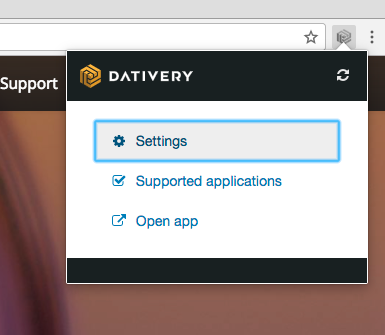 Browser extension - Dativery